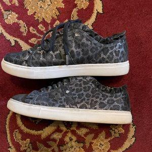 KATE SPADE Lynn Metallic Cheetah Print Sneaker